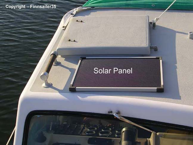 Hatch directly above the pilot seat & Solar panel